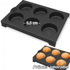 Perforiran silikonski pekač za kajzerice
