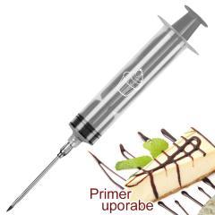 Injekcijska brizga za krofe, piškote, pecivo, siva