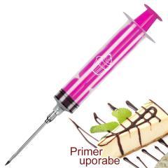 Injekcijska brizga za krofe, piškote, pecivo, roza
