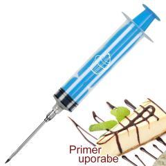 Injekcijska brizga za krofe, piškote, pecivo, modra