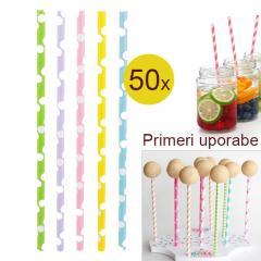Palčke za Cake Pops ali slamce 50 kom št.4