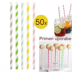 Palčke za Cake Pops ali slamce 50 kom št.5
