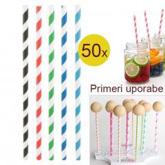 Palčke za Cake Pops ali slamce 50 kom št.6