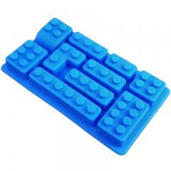Silikonski modelček lego zidaki, moder