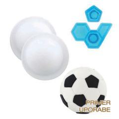 """""""Pop It"""" modelček 3D nogometna žoga, 4 delni"""